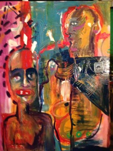 foto: pintura colectiva Amores Turbulentos
